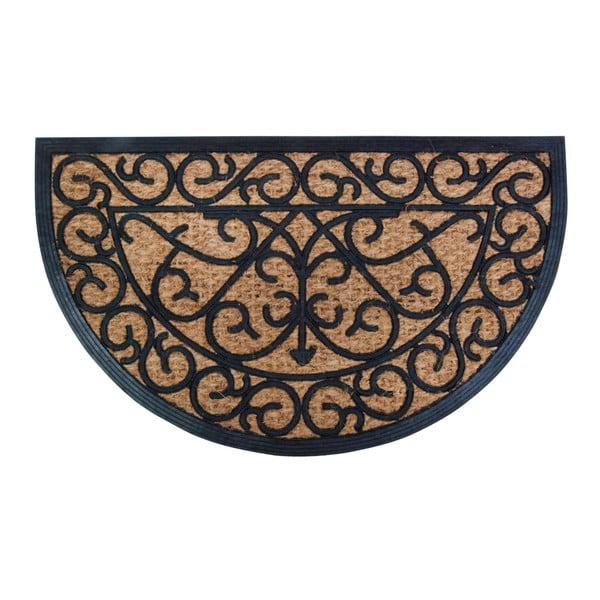 Gumová pollkruhová rohožka s kokosovým vláknom Esschert Design Ornamental