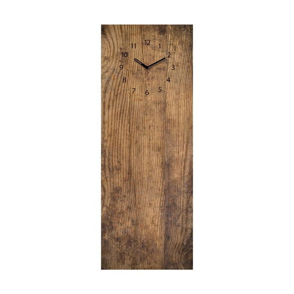 Magnetická tabule s hodinami Eurographic Used Wood, 30x80cm