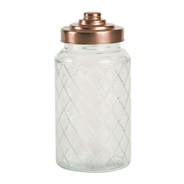 Skleněná dóza T&G Woodware Lattice, 1200 ml