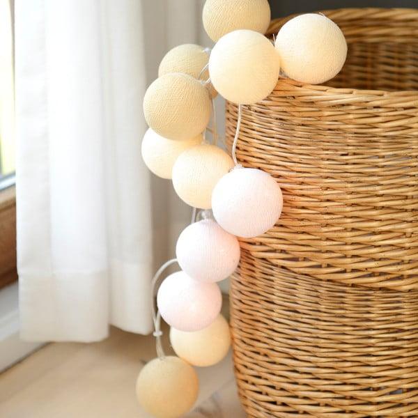 Svítící řetěz Irislights Creamy White, 10 světýlek
