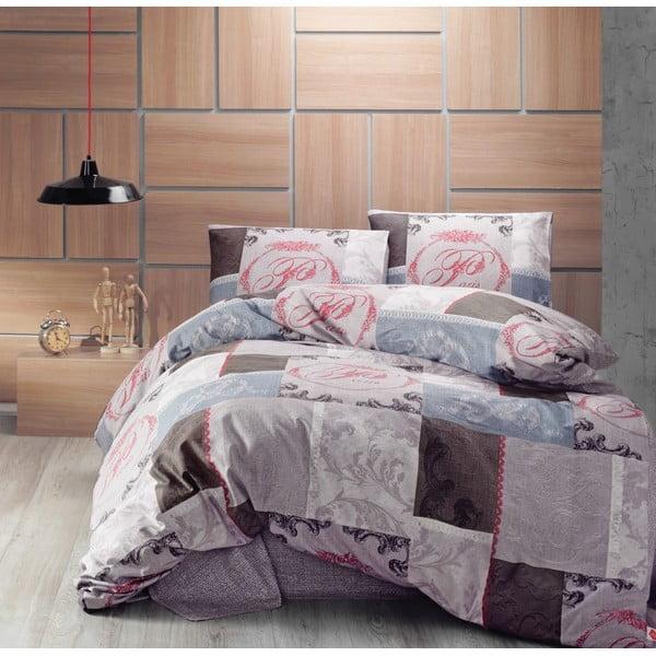 Sada prošívaného přehozu přes postel a dvou povlaků na polštář Seasons 246, 220x230 cm;