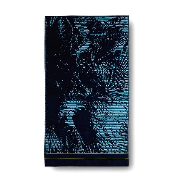 Modrá bavlněná osuška Casa Di Bassi Palm, 100x180cm