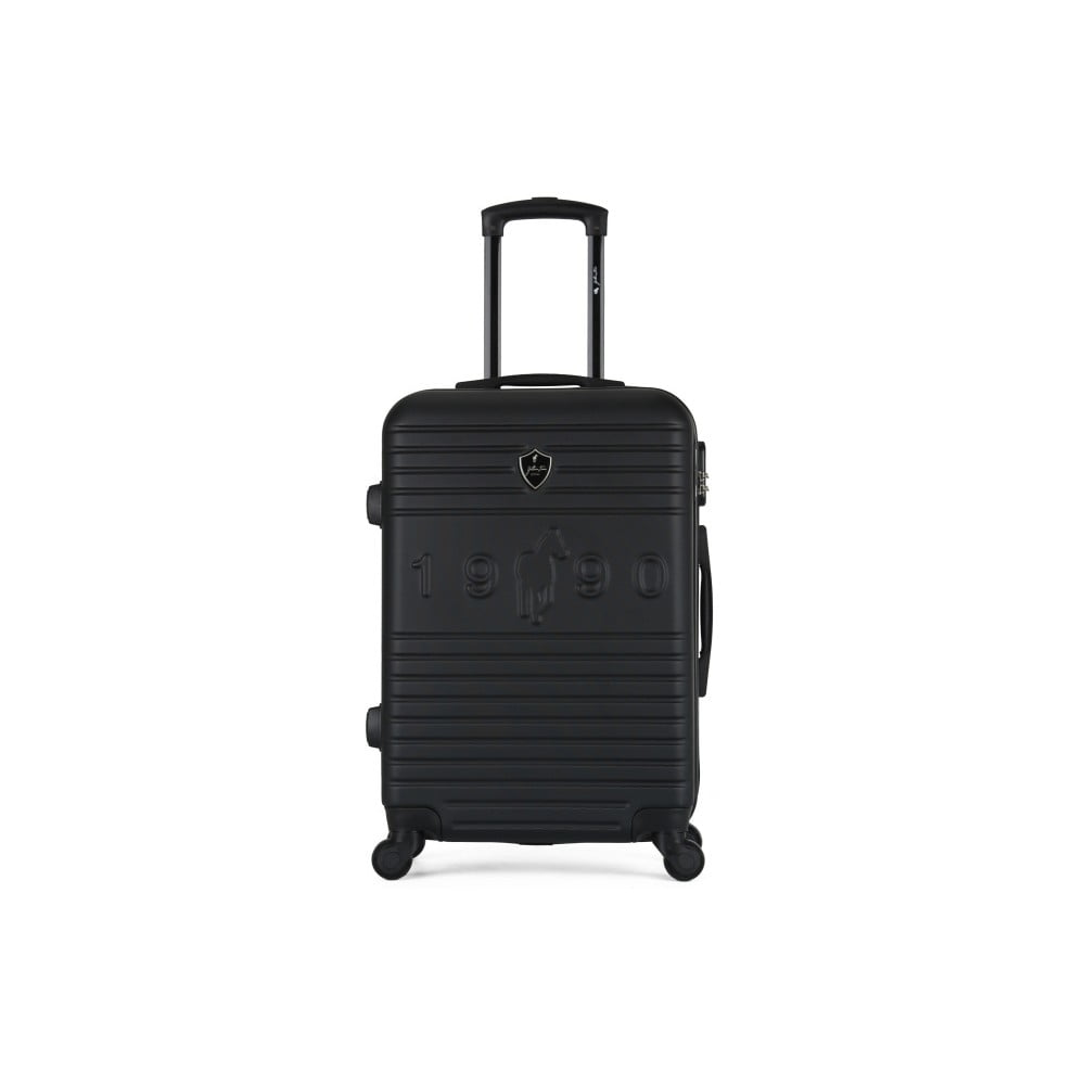 Černý cestovní kufr na kolečkách GENTLEMAN FARMER Valise Grand Cadenas Integre, 51 x 75 cm