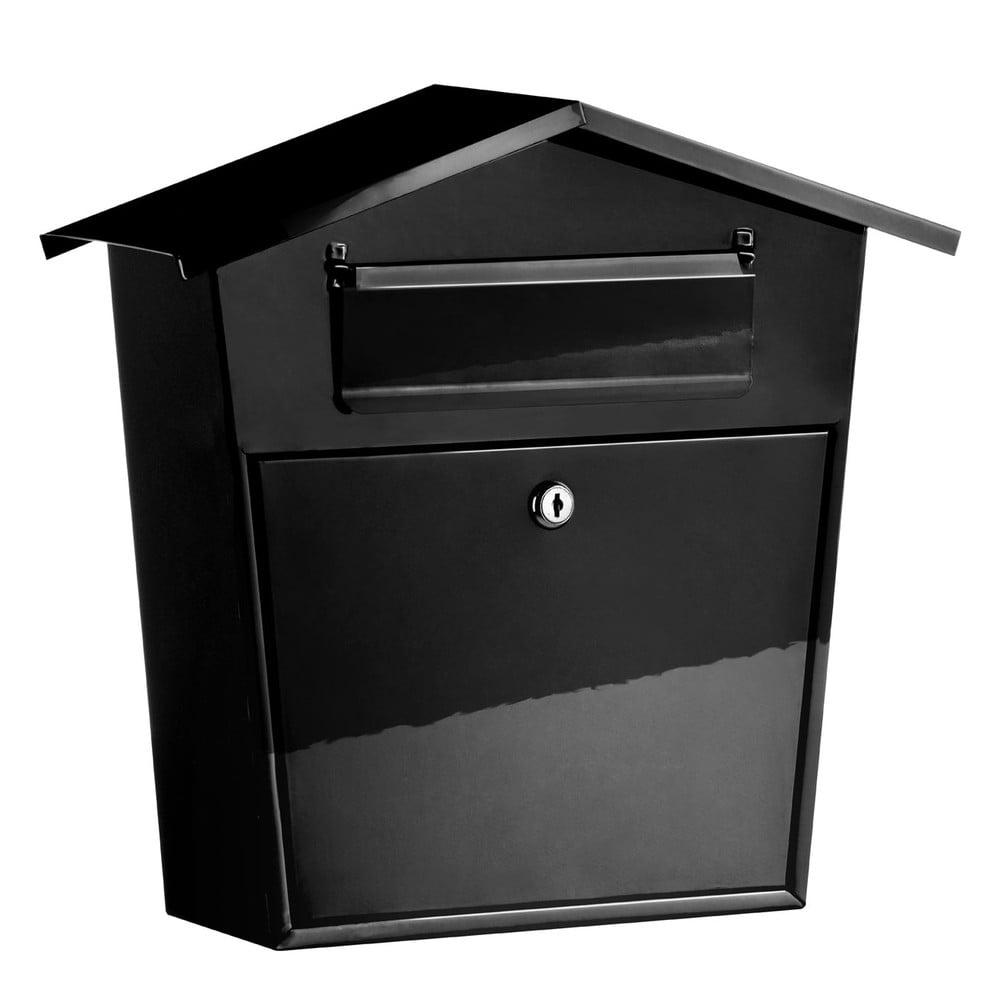 Černá poštovní schránka Premier Housewares, šířka 38cm