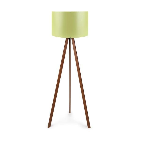 Voľne stojacia lampa so zeleným tienidlom Polly