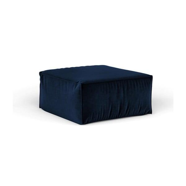 Tmavě modrý puf Cosmopolitan Design Florida, 65 x 65 cm
