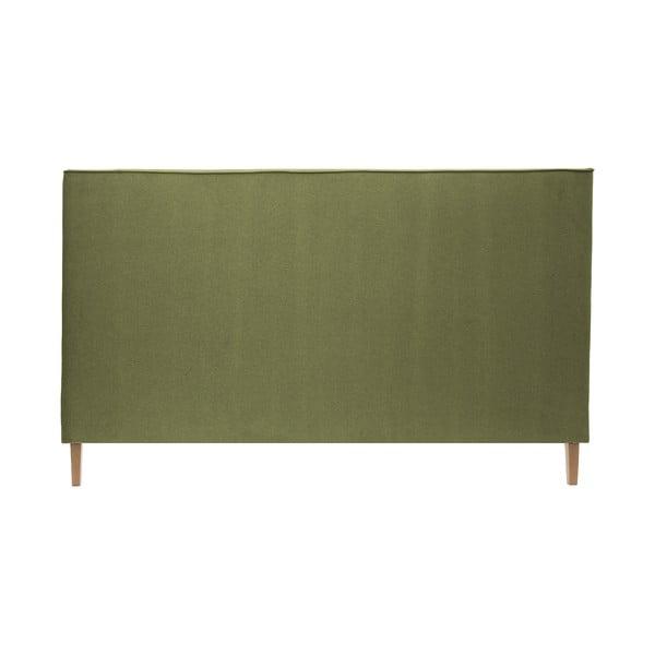 Zelená postel s přírodními nohami Vivonita Kent,160x200cm