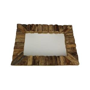 Nástěnné zrcadlo z teakového dřeva HSM Collection Nature, 60x80cm