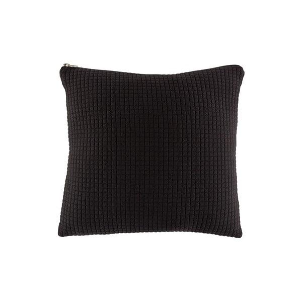 Černý polštář White Label Elle, 45x45cm