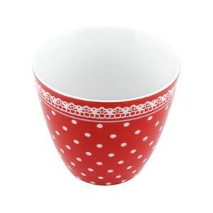 Porcelánový šálek Dots S, červený 4 ks