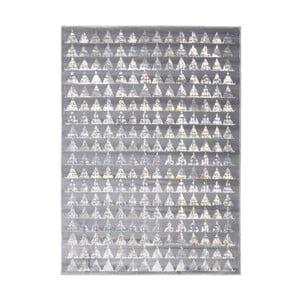 Šedý vysoce odolný koberec Floorita Optical Garro, 80 x 150 cm