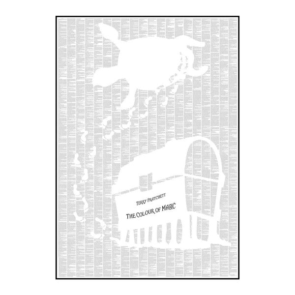 Knižní plakát Barva kouzel, 70x100 cm