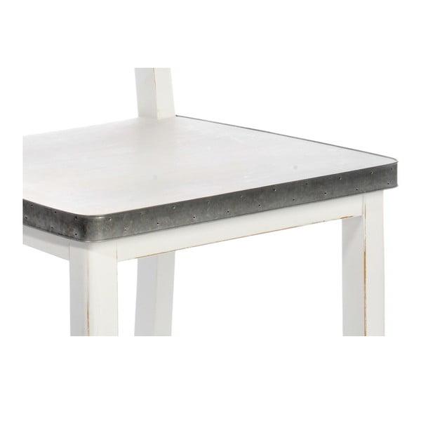 Jídení židle White Wood se zinkovými detaily