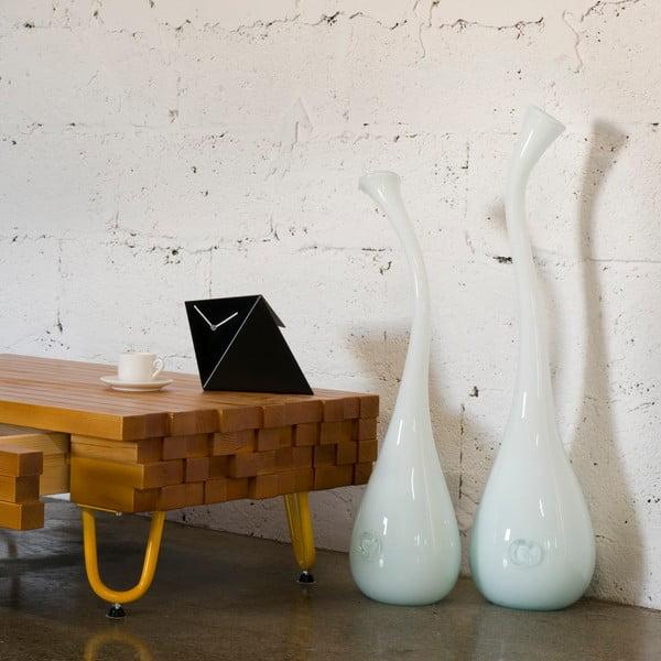 Skleněná váza Swan 55-60 cm, mléčná