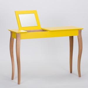 Masă de toaletă cu oglindă Ragaba Dressing Table, lungime 105 cm, galben