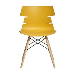 Sada 4 žlutých jídelních židlí Marckeric Iris