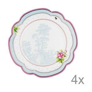 Porcelánový talíř  Lovely od Lisbeth Dahl, 24 cm, 4 ks