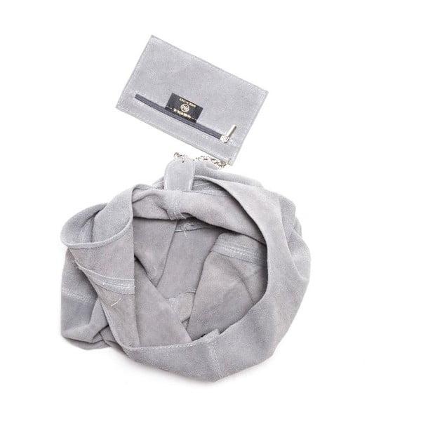 Kožená kabelka Roberta M 885 Grigio