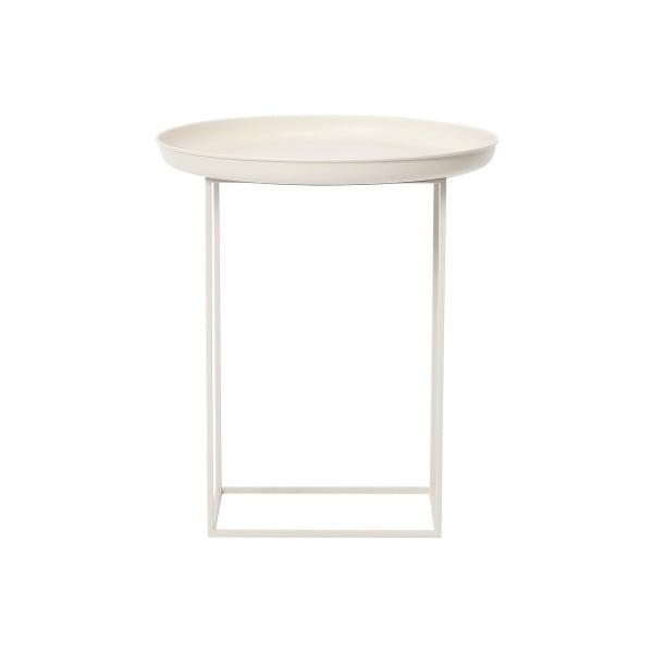 Bílý malý odkládací stolek NORR11 Duke