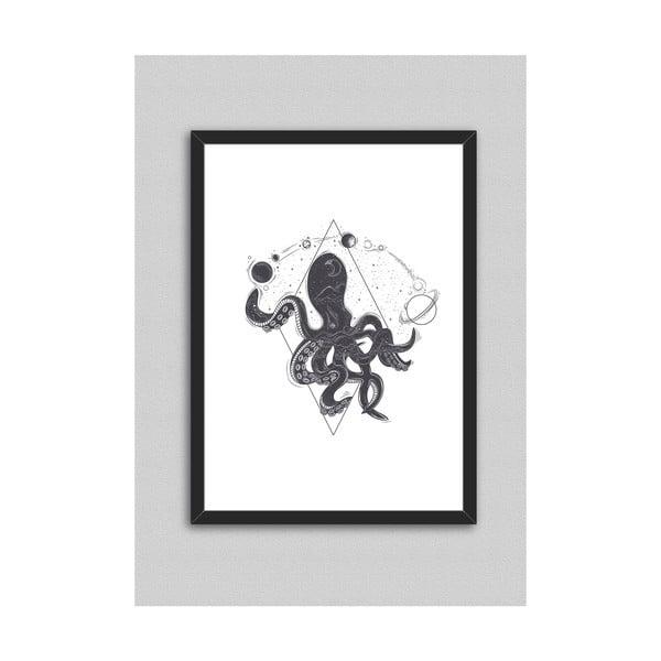 Octopus poszter keretben - North Carolina Scandinavian Home Decors