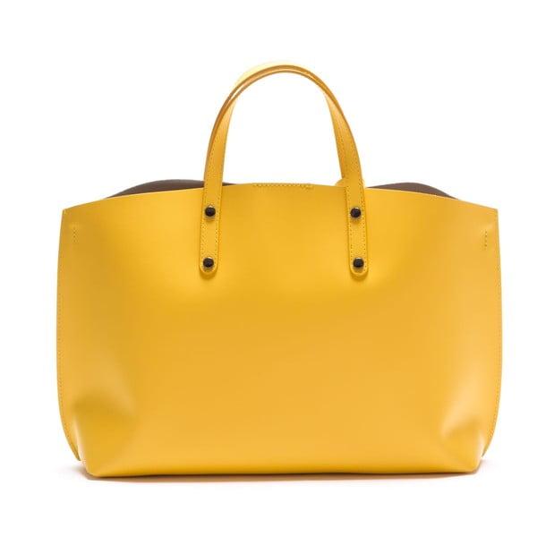 Kožená kabelka Luisa Vannini 3034, žlutá