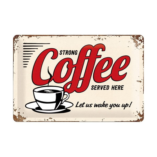Plechová cedule Coffee, 20x30 cm