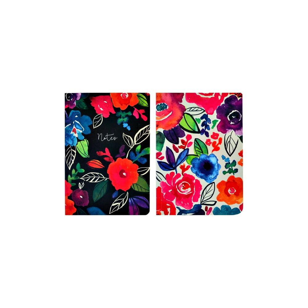 Sada 2 zápisníků A5 Portico Designs Bold Floral, 100 stránek