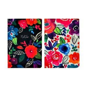 Sada 2 zápisníků A5 Portico Designs Bold Floral