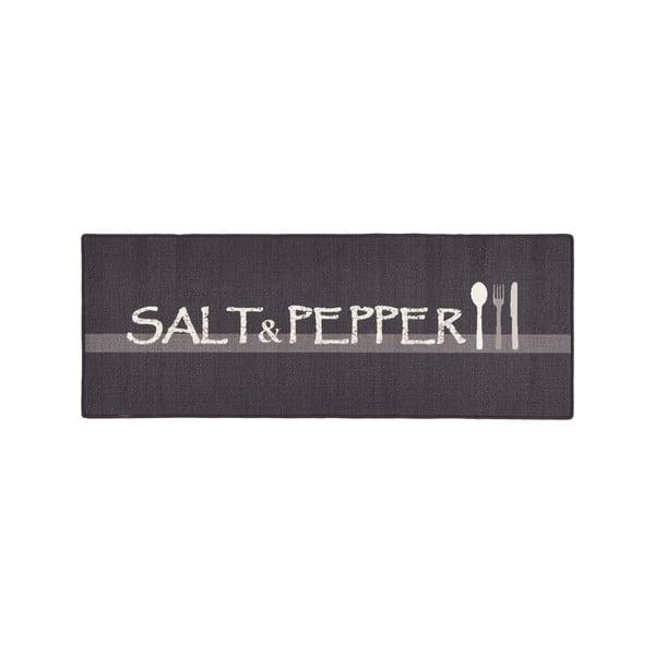 Šedý kuchyňský běhoun Zala Living Salt&Pepper, 67x180cm