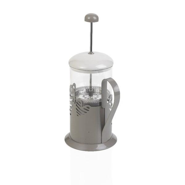 Presă franceză pentru ceai și cafea Brandani Batticuore, 600 ml, gri