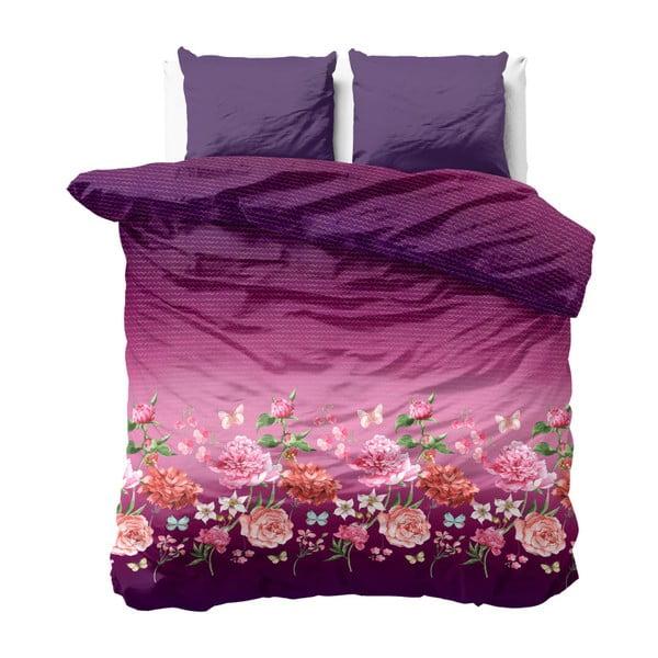 Różowo-fioletowa pościel z mikroperkalu Zensation Bright Flowers, 240x220 cm