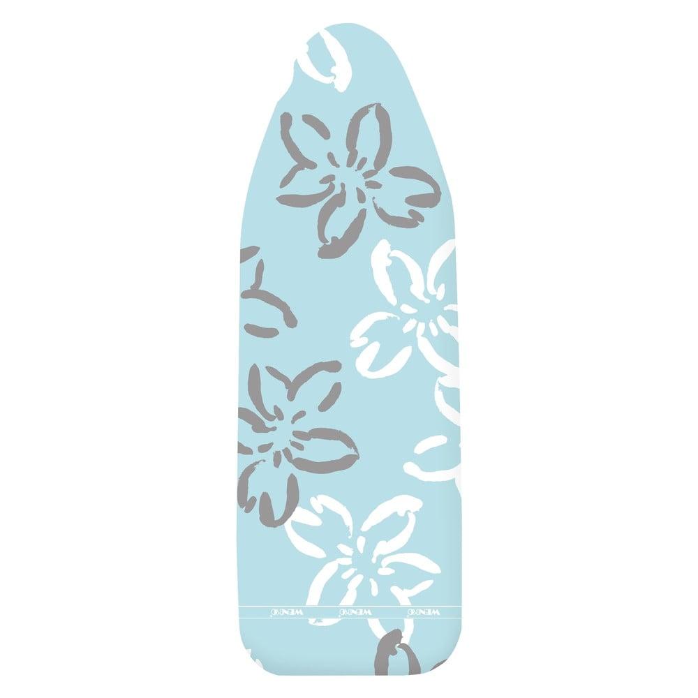 Modrý bavlněný potah na žehlící prkno Wenko Flowers XL