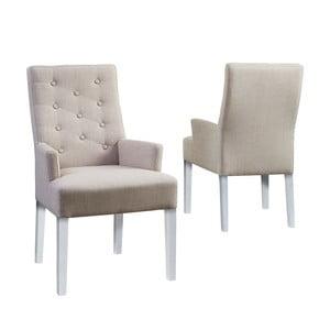 Židle Canett Twitter Chair s opěrkami, světlé nohy