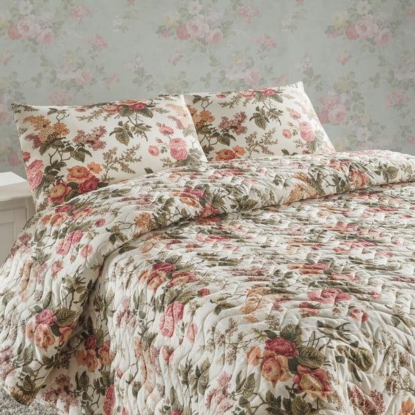 Sada prošívaného přehozu přes postel a dvou polštářů Double 288, 200x220 cm