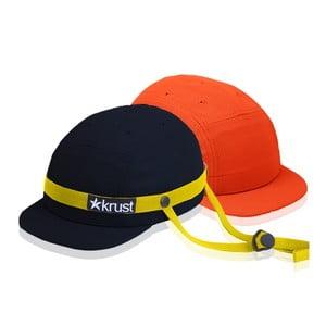 Cyklistická přilba Krust black/yellow/orange s náhradní čepičkou, velikost S