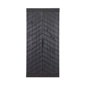 Černá skříň z borovicového dřeva De Eekhoorn Fishbone