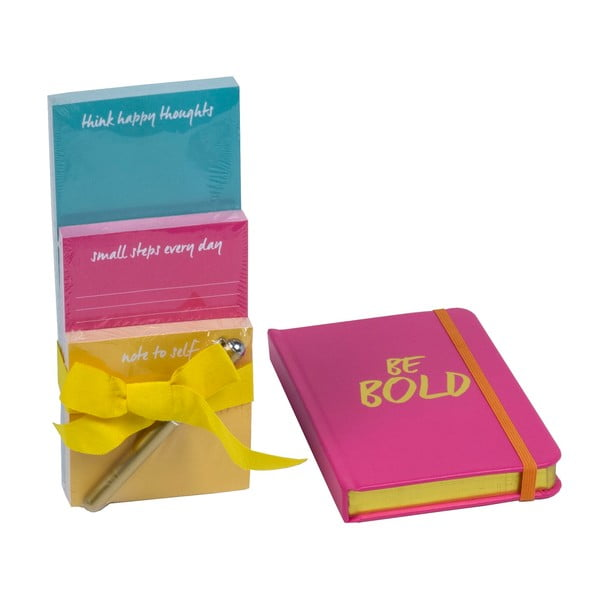 Sada zápisníku a bločků s propiskou Be Bold