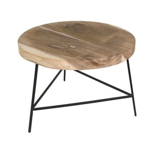 Odkládací stolek  ze dřeva mungur HSM collection Fame, ⌀60cm