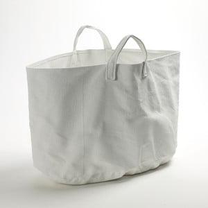Bílý plátěný košík Marie, 50x30 cm