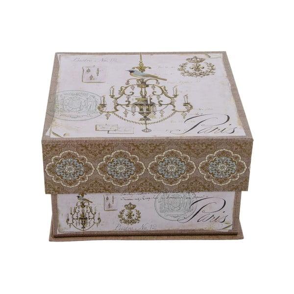 Sada 3 úložných krabic Paris Vintage