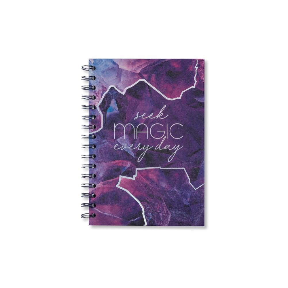 Fialový zápisník Tri-Coastal Design Magic, 120 stran