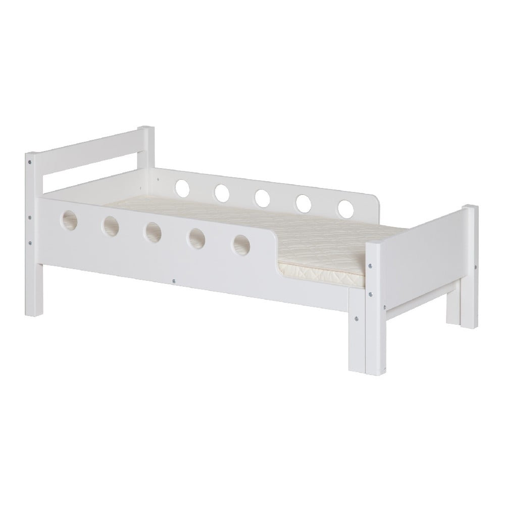 Produktové foto Bílá dětská nastavitelná postel Flexa White Junior, 70 x 140/190cm