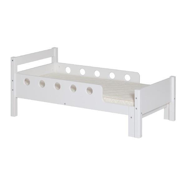 Białe dziecięce łóżko regulowane Flexa White Junior, 70x140/190 cm