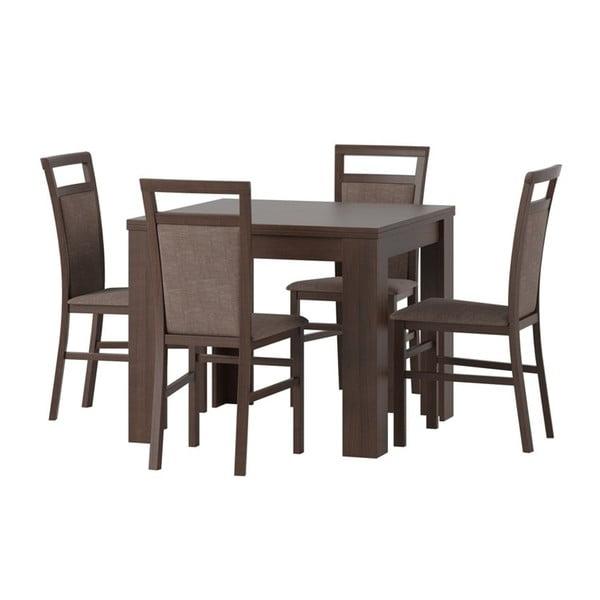 Rozkládací jídelní stůl v dekoru třešňového dřeva Szynaka Meble Saturn
