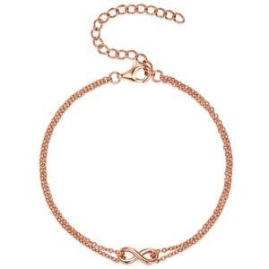 Dámský stříbrný náramek v barvě růžového zlata CARAT 1934 Isolda