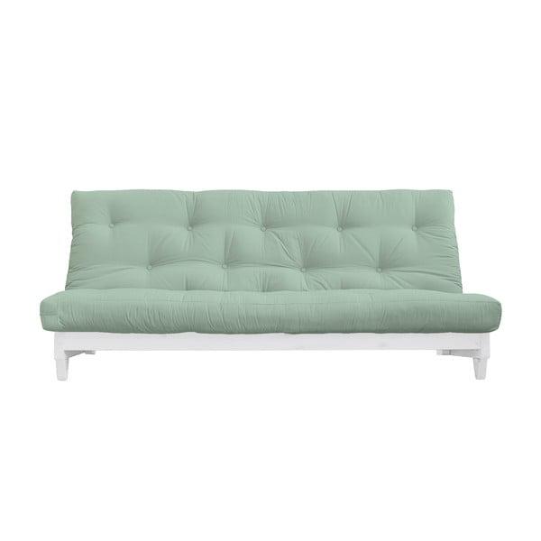 Canapea extensibilă Karup Design Fresh White/Mint