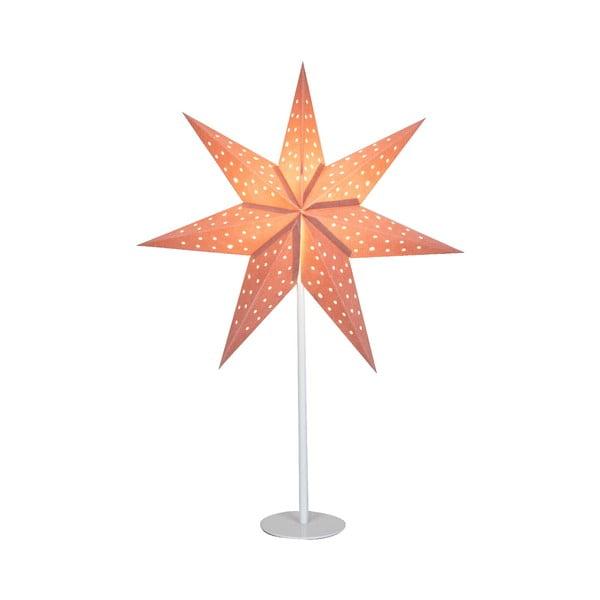 Růžová světelná dekorace Markslöjd Clara, výška 65cm