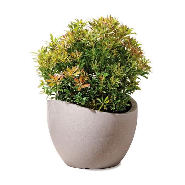Venkovní květináč Globe 50 cm, hnědý
