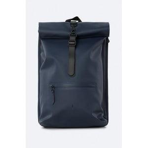 Tmavě modrý rolovací batoh s vysokou voděodolností Rains Rucksack