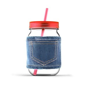 Sklenice Jeans Red